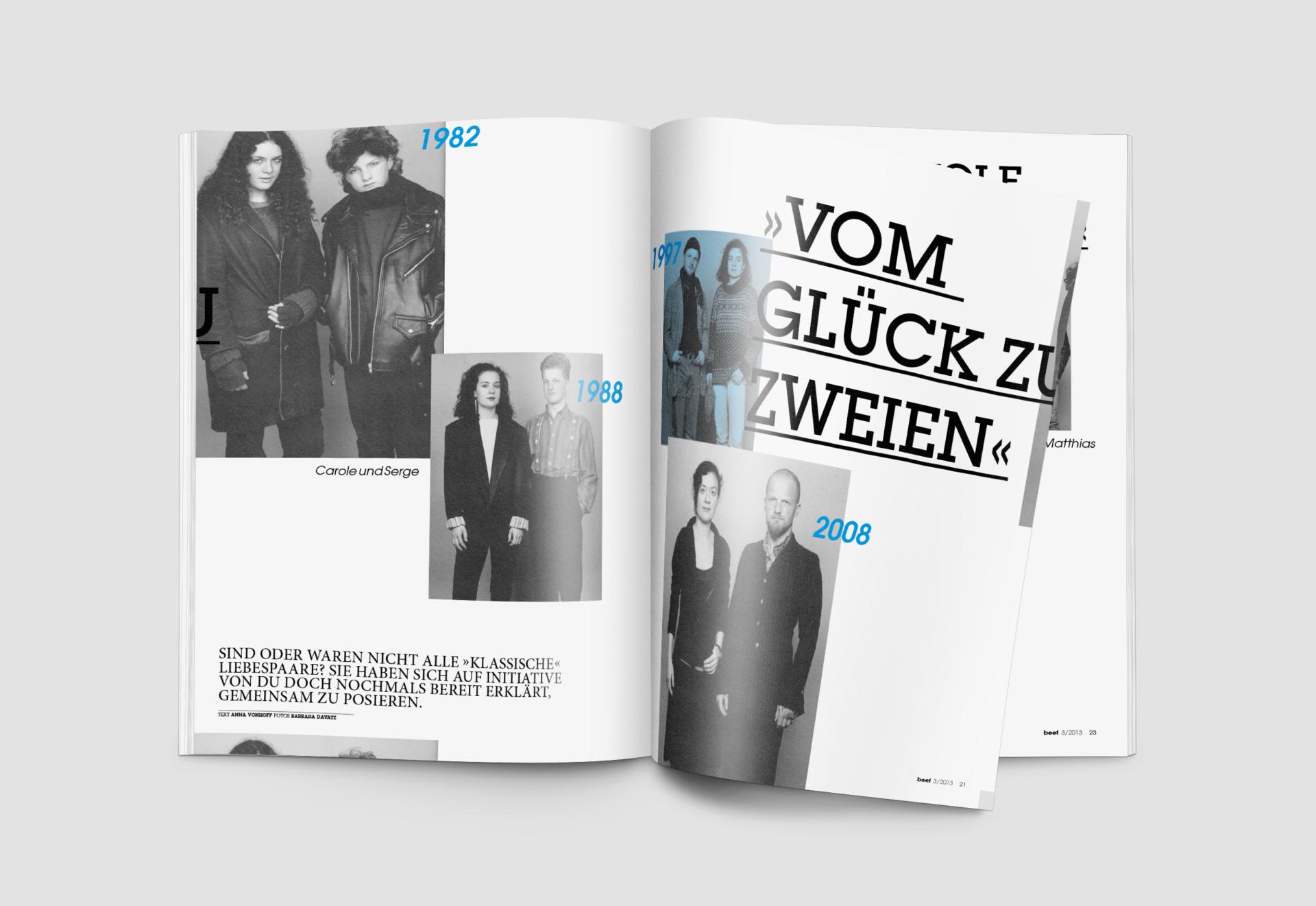 meandsarah – Grafikdesign Editorial: Vom Glück zu zweien